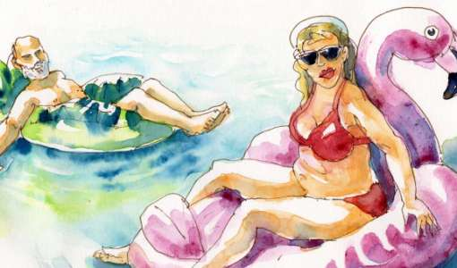Kompaktworkshop: Strandleben sketchen! Menschen am Meer